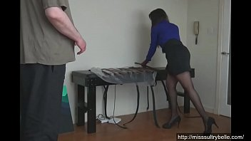 sample sperm collects nurse Xxx in blouse