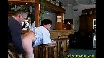 porn son old mom famele Frozen cum gary