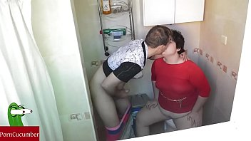 chubby hairy pussyfucked with arab girl Phone recorded toilet fuck