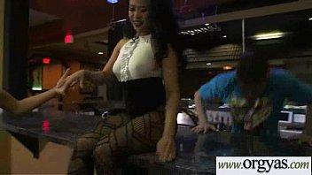 mills gay matt Blonde fishnet smoking