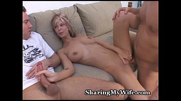 mouth share wife Classic swalows cum
