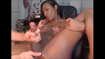chubby black shemale Visit to home aunt alone