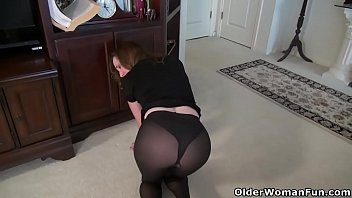 pantyhose tan milf Massage mom ass
