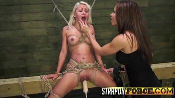 bondage blonde hogtied Bailey all she can take scene 2