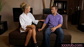 tugs during blonde masseuse client massage dick Husband get spanked otk