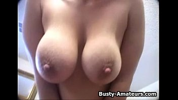 instruction dildo jerking Milf with huge natural tits giving head