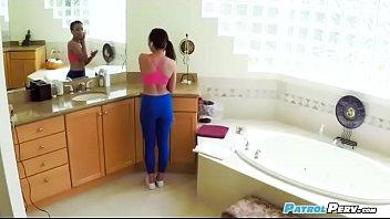 jerking pants yoga public Lesbian mana izumi