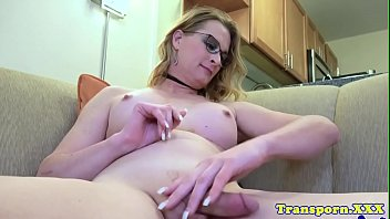 cock stroking her tranny hard Fat sister tuck brother