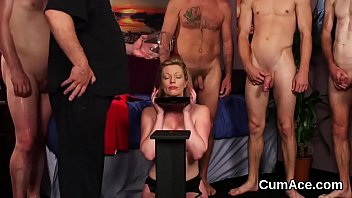 down chin clip cum drips her Mark rockwell destroys
