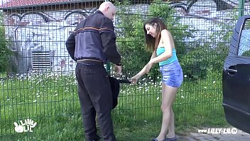 up amateur on street picked the girl My dick rubbing her leg under blanket