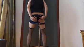 satin sex crossdresser Babette blue lady