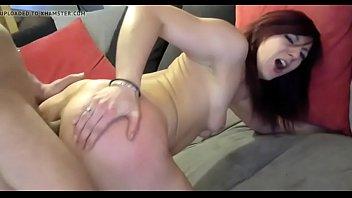 beauty amateur cam brunette toying anal on Japan mother bedroom