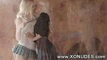 kiss lesbian slaves her mistress Haloween xxx part 1 of 4