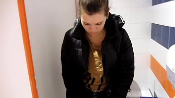 women public like dogs humiliated in Super skeletal girl in the bathroom