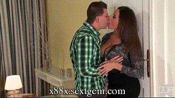 kiss man tits Watch mom undressing hidden cam