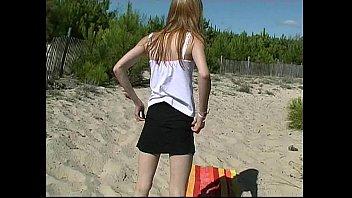 blonde cabin beach hd Full white panties